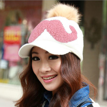 2017 Autumn Winter Women's Fashion Knitting Warm Hat Skullies Beanies Add Wool Letters Peaked Caps Snapback Multicolor 0907
