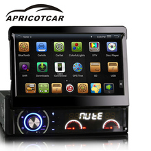 APRICOTCAR 4.4 Quad-core 7 Inch 1din For Universal Android 4.4 Car DVD Multimedia Player Built-in WIFI Internet Access FM USB(China)