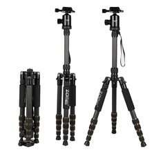 ZOMEI Z669C Portable heavy duty Travel Professional Carbon fiber Tripod Monopod+Ball head for SLR DSLR Digital camera(China)