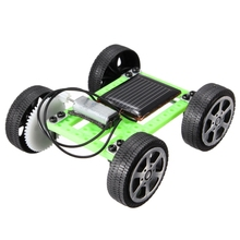 assembly Mini Funny Solar Powered Toy Solar DIY Gadget Car Mini Puzzle IQ Educational Toy DiY Robot Car Educational Puzzle Robt