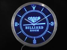 nc0449 Billiards Room Game Bar Beer Neon Sign LED Wall Clock(China)