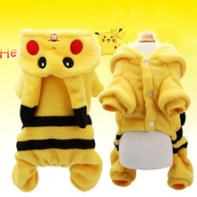KIMHOME PET Dog Clothes Small Dogs Cotton Funny Dogs Clothes Winter Pikachu Cosplay Clothes Small Dogs Pet Costumes Cats