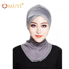 Muslim Hijabs Scarf Women Jersey Hijab Underscarf Caps Islamic Products Turban Wrap Modal Bandana with Satin Across New Fashion