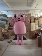 Mascot Costume Adult Character Costume mascot As fashion freeshipping cosplay Piggy vacuum cleaner(China)