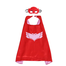 1 sets of  PJ Masks  cloak Cape and Mask Owlette Catboy Gecko greg conner amaya capes  Cosplay Action Toys For kids Children