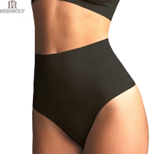 Miss Moly Women's High Waist Cincher Girdle Tummy Control Body Shaper Slimmer Sexy Thong Panty Shapewear waist trainer Corset(China)