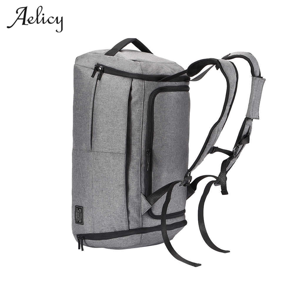 Aelicy Backpack Male Men Travel Bags Large Capacity Women Luggage Travel Duffle Bags Canvas Big Travel Folding Trip Bag Backpack<br>