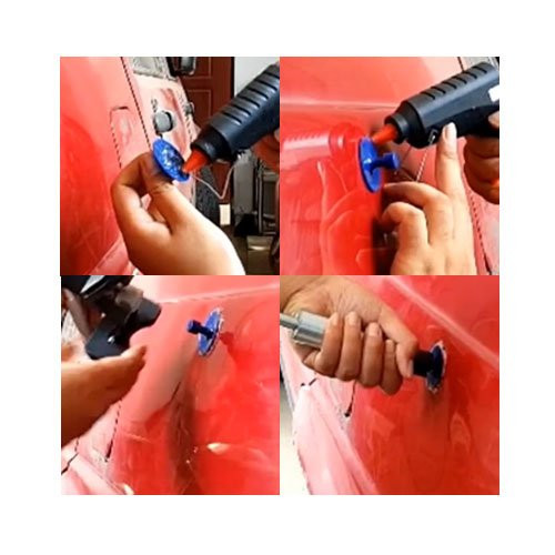 WHDZ High Quality Aluminum  Plastic PDR Dent Tabs 20pcs Blue Red Glue Tabs with different sizes for Auto PDR tools (2)