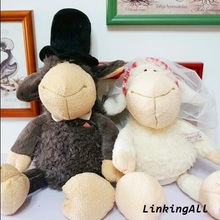 35cm nici couple wedding sheep plush toys stuffed animal soft dolls best gift for Christmas and birthday 2pcs/pair