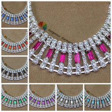 10yards Czech Crystal Rhinestone Cup Chain Clear Black Red Royal Navy Emerald Fuchsia Purple Aquamarin Gold Silver For Browband(China)