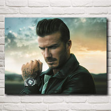Famous Football Star David Beckham Art Silk Poster Print Sports Pictures Home Decor 12x16 18x24 24X32 Inches Free Shipping
