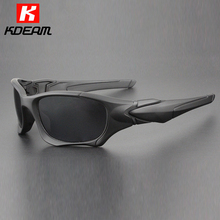 Kdeam High-end Proof Sunglasses Polarized For Men Matte Black Sun Glasses Man Polarizing Lense gafas de sol With Package KD8614(China)