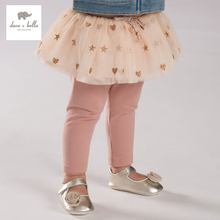 DB3755 dave bella autumn baby girls pants with skirt girls kids trouser with star embroidery