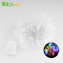 HOT 5m 28 LEDs waterproof Garland LED Christmas Small bell string lights with EU connector party colourful lamp Holiday lighting