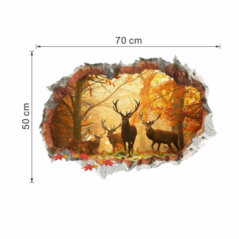HTB1 n..SFXXXXbQaXXXq6xXFXXXc - Forest Deer 3D Wall Decal For Living Room And Bedroom