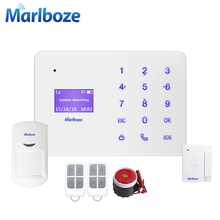 New Marlboze A2 Super Thin GSM Alarm Systems LCD Touch Keyboard Wireless Sensor Alarms Home Security System