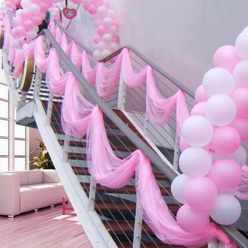 Special Offer 0.75*20M Sheer Mirror Organza Roll Pink Wedding Chair Sash Bow Table Runner Swag Organza Material Light Pink Color(China)