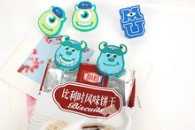 2016 Brand new Cartoon Cute Monsters University Clips Sulley Michael Creative Decorative Food Bag Clips Creative Clothespin Dj05