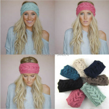 Wholesale crochet fashionable men and women to keep warm in the fall and winter of high quality wool knitting headband 30pcs/lot