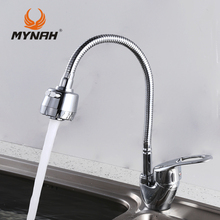 MYNAH Russia free shipping Kitchen Faucet mixer crane washing everything for the kitchen Kitchen Sink(China)