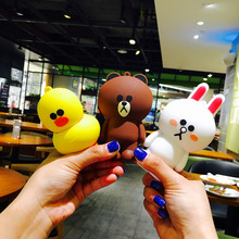 Cute bear Brown Minnie rabbit line charging treasure cartoon bear mini portable apple Android mobile power adorable
