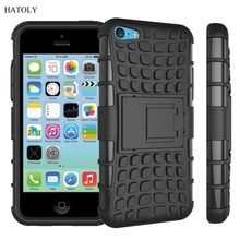 For iPhone 5s Case Heavy Duty Armor Shockproof Hard Soft Silicone Phone Case For iPhone SE Rugged Rubber Cover For iphone 5 *<
