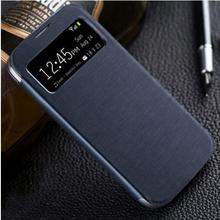 Smart View Sleeve Sleep Function Shell Original Leather Cover Flip Holster case For Samsung Galaxy S4 i9500 s 4(China)