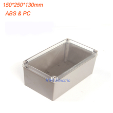 Electrical plastic box work for terminal /Meters/Junction Enclosure Waterproof IP66 Clear Cover boxes 150*250*130mm DS-AT-1525-1(China)