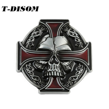 T-Disom Celtic Cross Belt Buckles fashion Skull buckles for men belt hot sale buckles suit for 4cm width belts wholesale(China)