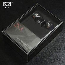 KZ ZS3 Ergonomic Detachable Cable Earphone In Ear Audio Monitors Noise Isolating HiFi Music Sports Earbuds With Microphone(China)