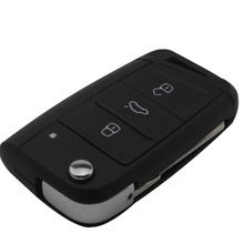 3 Buttons Modified Folding Flip Remote Car Key Cover Case Fob For VW Golf 7 GTI MK7 Skoda Octavia A7 Seat No Logo