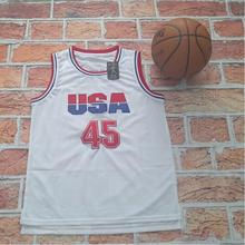 USA Basketball Jersey 45 Donald Trump Commemorative Edition White Throwback Basketball Jerseys For Sale Free Shipping