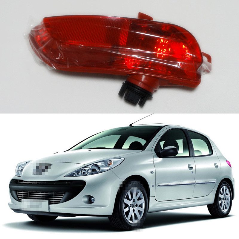 1 Piece LH left side back tail bumper lamp rear fog light for Peugeot 206+ plus 207<br>