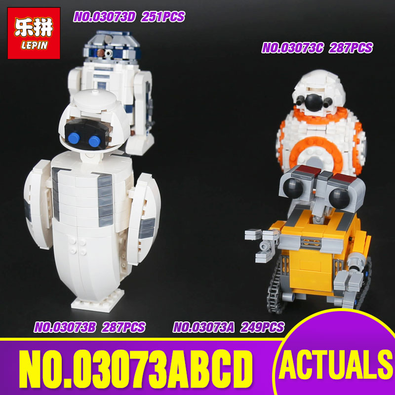 Hot item Lepin 03073 Genuine Movie Series The Four Robots In One Set Building Blocks Bricks Funny Toys As New Year Kid`s Gifts <br>