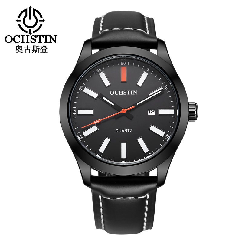 2017 OCHSTIN Luxury Brand Leather Strap Analog Mens Quartz Date Clock Fashion Casual Sports Watches Men Military Wrist Watch<br><br>Aliexpress