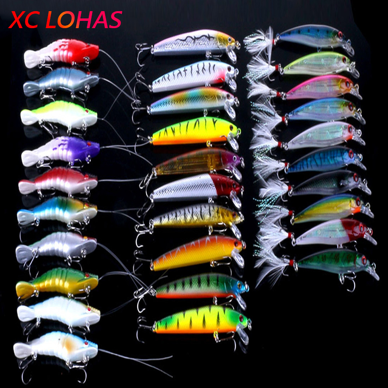 Super Deal 30Pcs Fishing Lure Baits Artificial Shrimp Minnow Lures with Feather Fishing Hook Fishing Tackle Low Price<br><br>Aliexpress