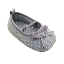 Kid Girl Pre Walking Shoes Bowknot Dot Toddler Shoes Baby Flats 0-18M