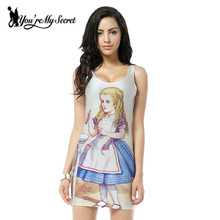 [You're My Secret] Sundress 2017 Fashion Women Magical Fairy Girl Print Galaxy Dress NEW MADE TO ORDER Sleeveless Women Shirt