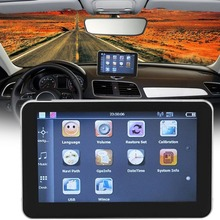 New Car-Styling 5-Inch Capacitive Touch Screen GPS Navigator Portable High Definition Bluetooth GPS Navigation For Car Truck(China)