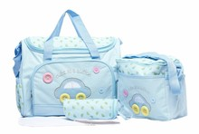 4PCS/Set High Quality Tote Baby Shoulder Diaper Bags Durable Nappy Bag Mummy Mother Pink/Blue/Yellow Baby Bags for mom