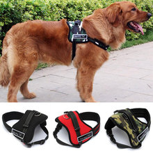 Large Dog Harness Vest 2017 New Pet Products Comfortable Net Cloth Camouflage 4Colors Pet Harness Professional Dog Chest Straps(China)