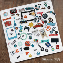 NEW! 78pcs/pack Boy Series Decorative Pre Die Cut Stickers for DIY Scrapbooking Planner/Card Making Craft