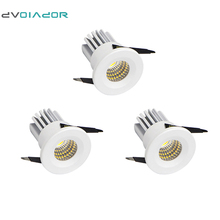 DVOLADOR 3pcs/lot Under Cabinet Mini LED Downlights Recessed 3W 300Lumens 3000K/6000K Mini COB Recessed Ceiling Downlight Kit(China)