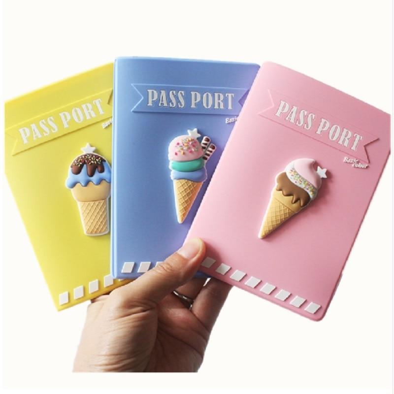 Funda para pasaporte con impresión de helado
