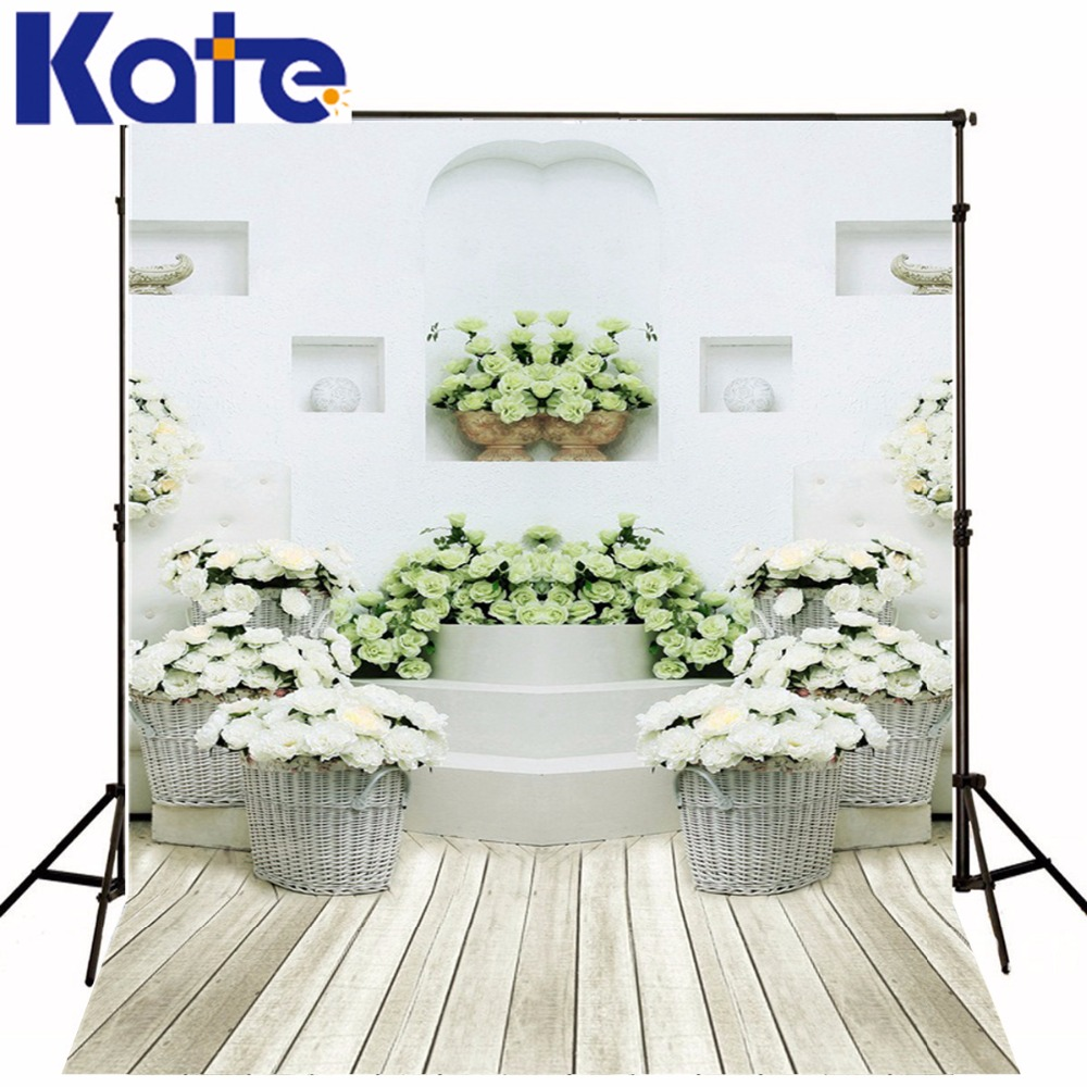 3M*2M(10*6.5 Ft) Kate Gorgeous  Photography Backdrop  White  Wood Floor Photography Backgrounds For Wedding  Background<br>