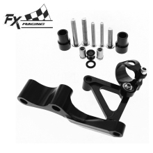 For DUCATI 696 796 795 FX CNC Aluminum Adjustable Motorcycle Steering Stabilizer Mounting Bracket Support Kit Moto Accessories