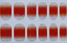Nail Polish Stickers Wraps Art Bling Silver Gradient Orange Red Design Adhesive Minx Beauty Manicure Tools