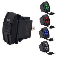 12V Dual USB Socket Car Charger Power Adapter 3.1A 5V Output With 4 Color LED Light For All Phone