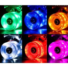 LED Flash Cruiser Skateboard Wheel For Street Skate Longboard Penny Banana Board Soft brush Street Wheels(China)