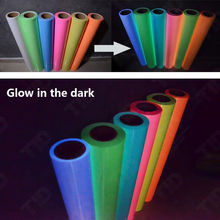 Pink Glow in the Dark Roll of T-Shirt Vinyl Heat Press Vinyl Transfer Cutter Plotter 50cm60cm